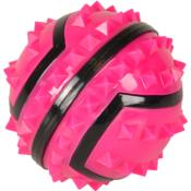 Balle Spiky Rose  - Jouets pour Chiens