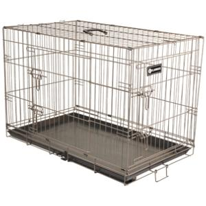 cage en m tal pliable pour chien la toutouniere. Black Bedroom Furniture Sets. Home Design Ideas