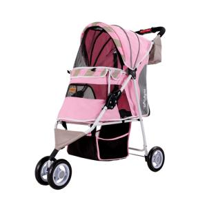 Poussette pour Chien Edition Mate Rose - Ibiyaya